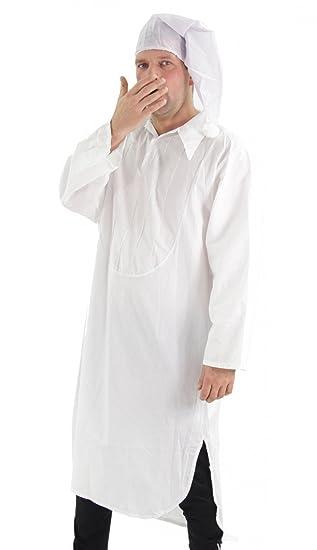 Foxxeo 40276 I Kostum Nachthemd Mit Schlafmutze Schlafkostum