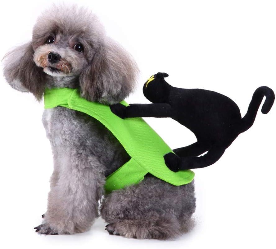 Lovejoy Store - Ropa para Mascotas, Perro, Gato, Jinete, Disfraz de Navidad de Invierno, Ropa Divertida para Perros, Ropa de Camiseta, Abrigo de Ropa – S/M/L 3 tamaños, Large