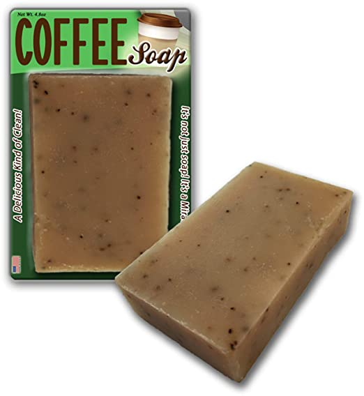 Bodacious Bath Coffee Soap Handcrafted Scented with Ground Coffee Beans