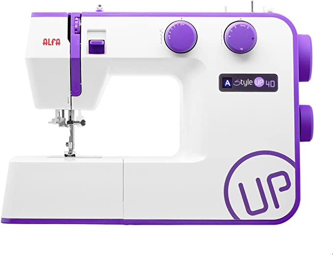 Alfa Style UP 40 - Máquina de Coser, Color Morado: Amazon.es: Hogar