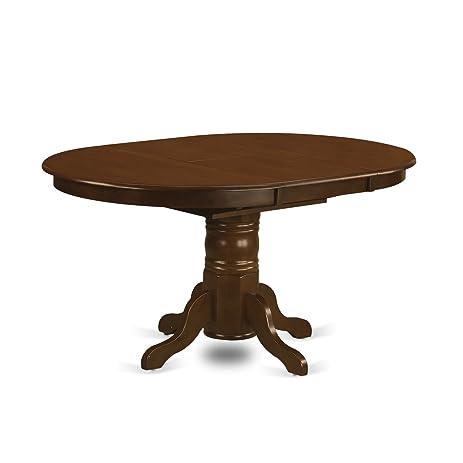 East West Furniture KET ESP TP Kenley Oval Single Pedestal Dining Table  With 18u0026quot