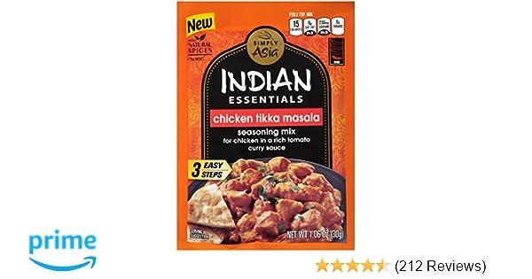 Simply Asia Indian Essentials Chicken Tikka Masala Seasoning Mix, 1.06 oz (Case of 12)