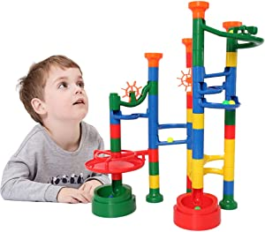 BMAG Marble Run for Kids, Marble Race Track Set, Marble Maze Coaster STEM Building Toys 62PCS