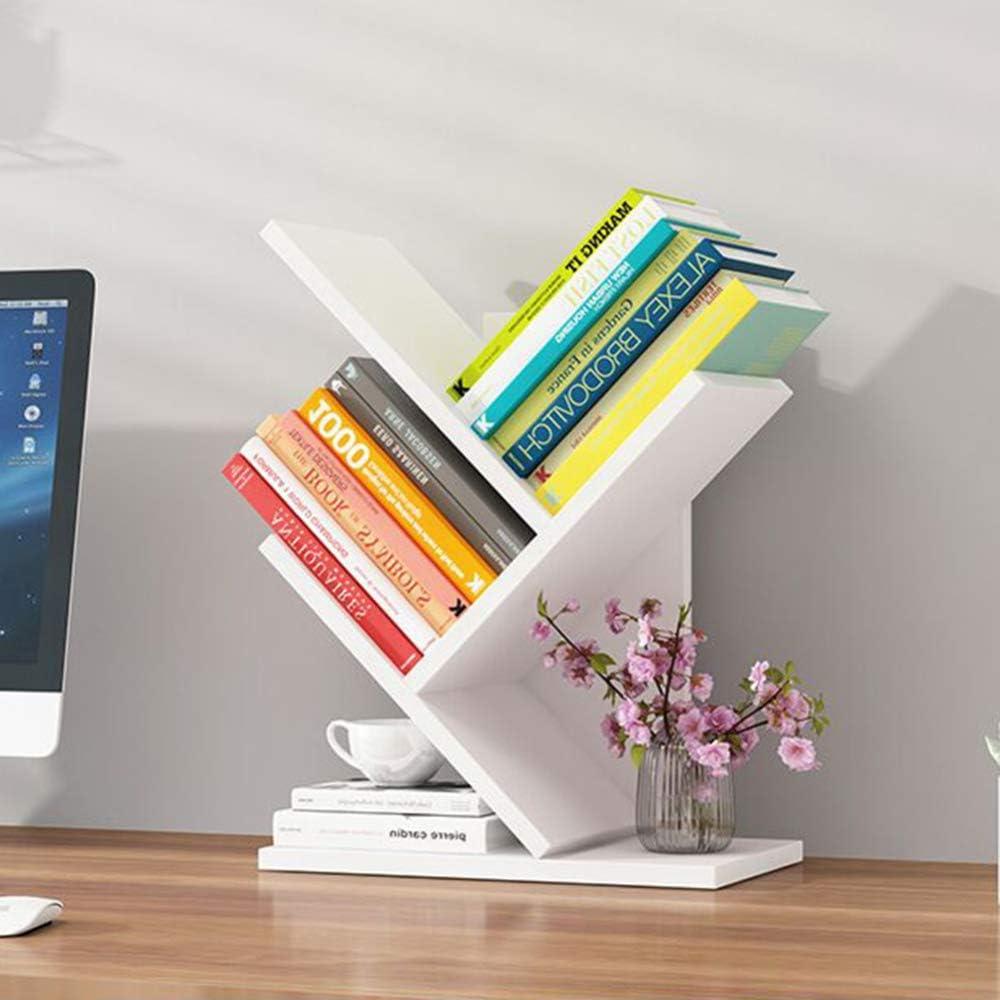 simple desktop storage shelf table small organize bookshelf simple home CBRCYGG Tree-shaped small bookshelf