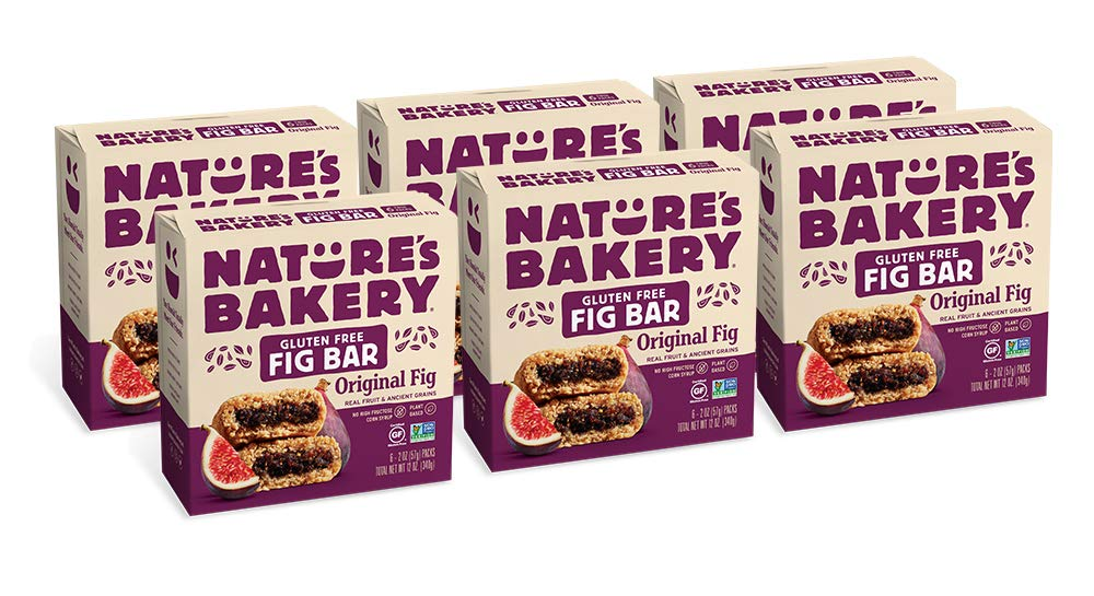 Nature's Bakery Gluten Free Fig Bars, 6- 6 Count Boxes of 2 oz Twin Packs (36 Packs), Original Fig, Vegan, Non-GMO, Packaging May Vary by Nature's Bakery