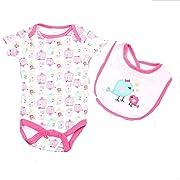 Cutie Pie Birdcage & Bib Baby Girl (0-3M) Pink