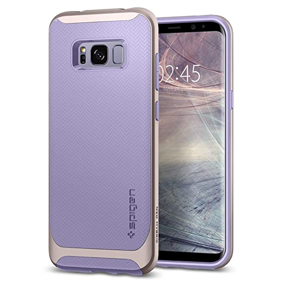 separation shoes 8bb67 8e242 Spigen Neo Hybrid Galaxy S8 Plus Case Herringbone with Flexible Inner  Protection and Reinforced Hard Bumper Frame for Galaxy S8 Plus (2017) -  Violet