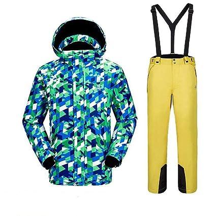 QZHE Traje de esqui Traje De Esquí De Invierno para Hombres ...