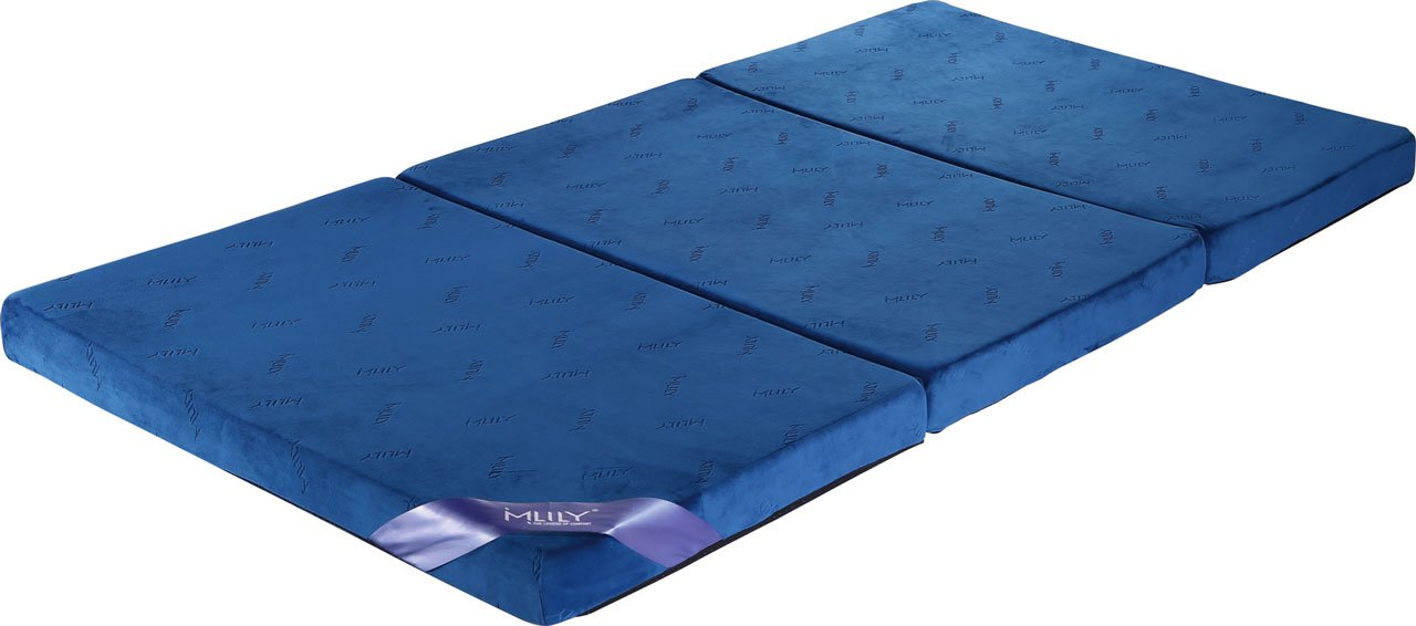 【MLILYエムリリー】三つ折マットレス 敷き布団 優反発&高反発の二層構造 厚さ8cm (セミダブル) B013FZGRZ8