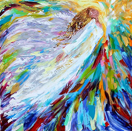 Angel Art print - Angel Rising Above - Karen Tarlton, 8x8, 12x12, 20x20, 30x30 inches