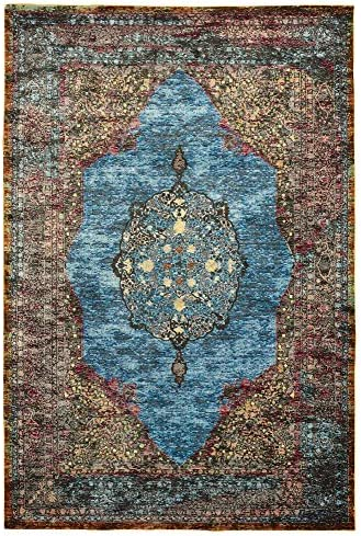 LR Home Gala Collection Area Rug, 5 x 8 , Turquoise Multi