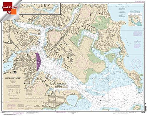 Paradise Cay Publications NOAA Chart 13272: Boston Inner Harbor 21.00 x 26.64 (SMALL FORMAT WATERPROOF) (Boston Harbor Chart)