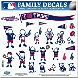 MLB Minnesota Twins Large Family Decal Set