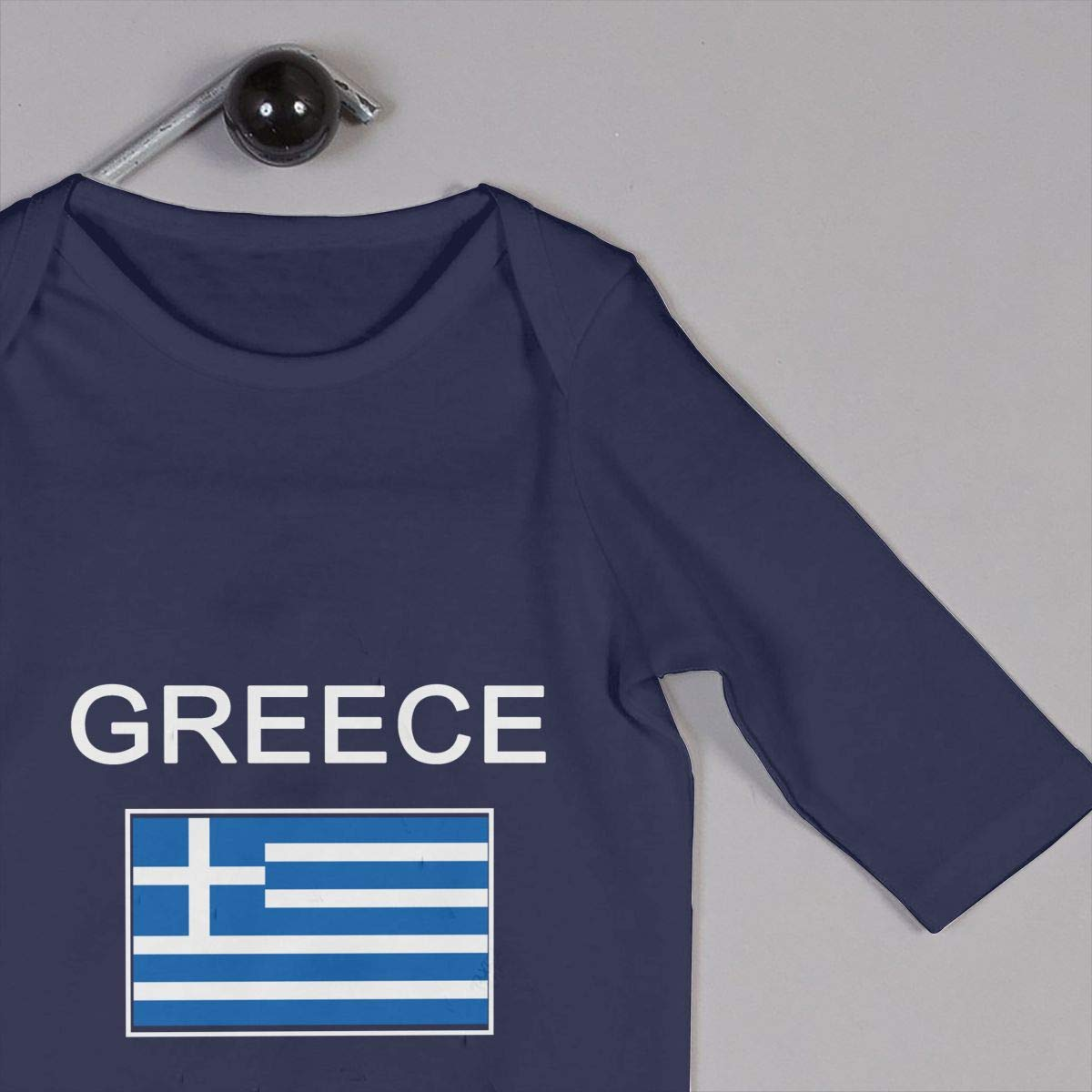 Greece Flag Unisex Long Sleeve Baby Gown Baby Bodysuit Unionsuit Footed Pajamas Romper Jumpsuit