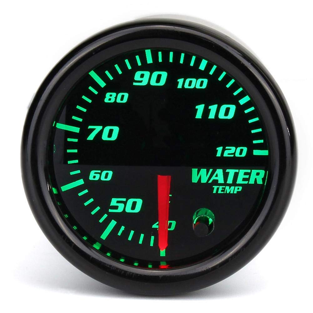 Onlyonehere indicatore di Temperatura dellAcqua per Auto / 7 LED di conversione del Colore 12 Gradi Celsius Applicazione Auto per / indicatore della Temperatura dellAcqua con Accessori di Montaggio
