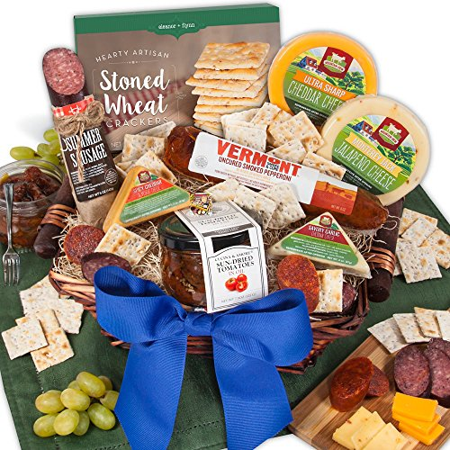 Gourmet Meat & Cheese Sampler - Deluxe by GourmetGiftBaskets.com