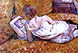 """18.1"""" x 27.1"""" Henri De Toulouse-Lautrec Devotion: the Two Girlfriends premium archival print reproduced to meet museum quality standards. Our museum quality archival prints are produced using high-precision print technology for a more accurate reprod..."""