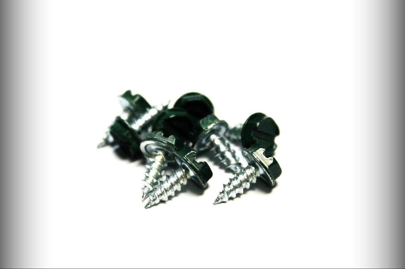 Set #TR-1124F Warranity by Pr-Mch pcs 6 x 3//8 Slotted Hex Head Sheet Metal Screws Evergreen New Package of 500
