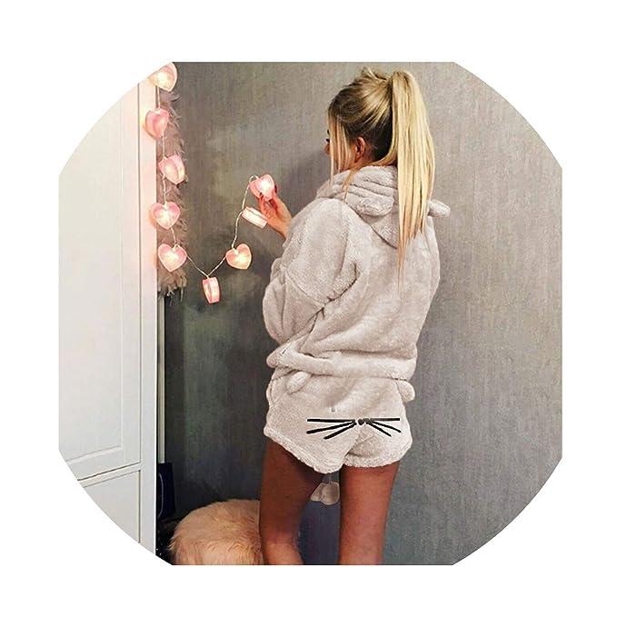 Amazon.com: Pajamas de forro polar para mujer, sexy ...