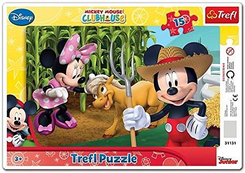 Trefl Frame Mickey Mouse In The Countryside Puzzle (15 - Mickey Mouse Cardboard