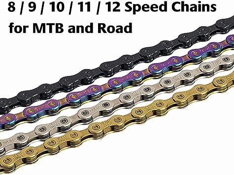 WOOAI Cadena de Bicicleta 8S 9S 10S 11S 12 Cadenas Velocidad del ...