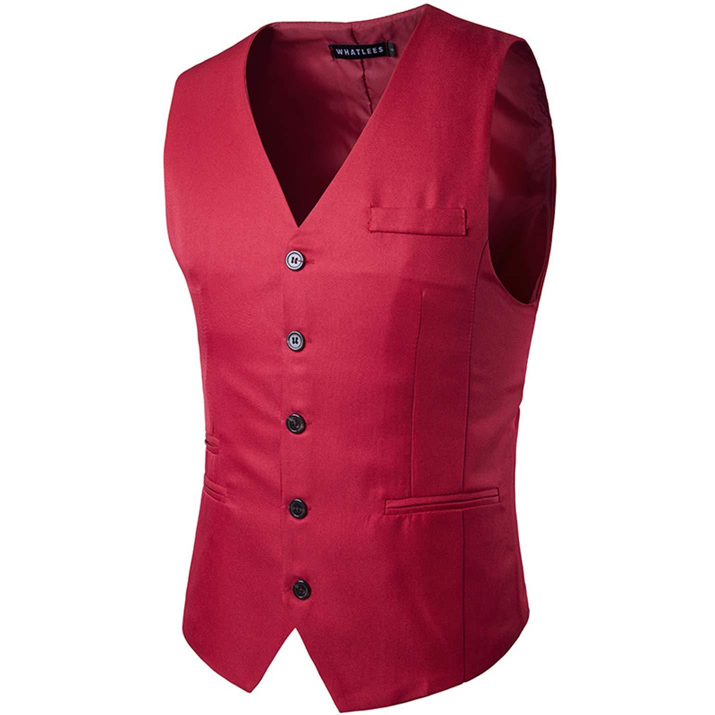 Flygo Women's V-Neck Sleeveless Slim Fit Skinny Vest Formal Business Suit Vest
