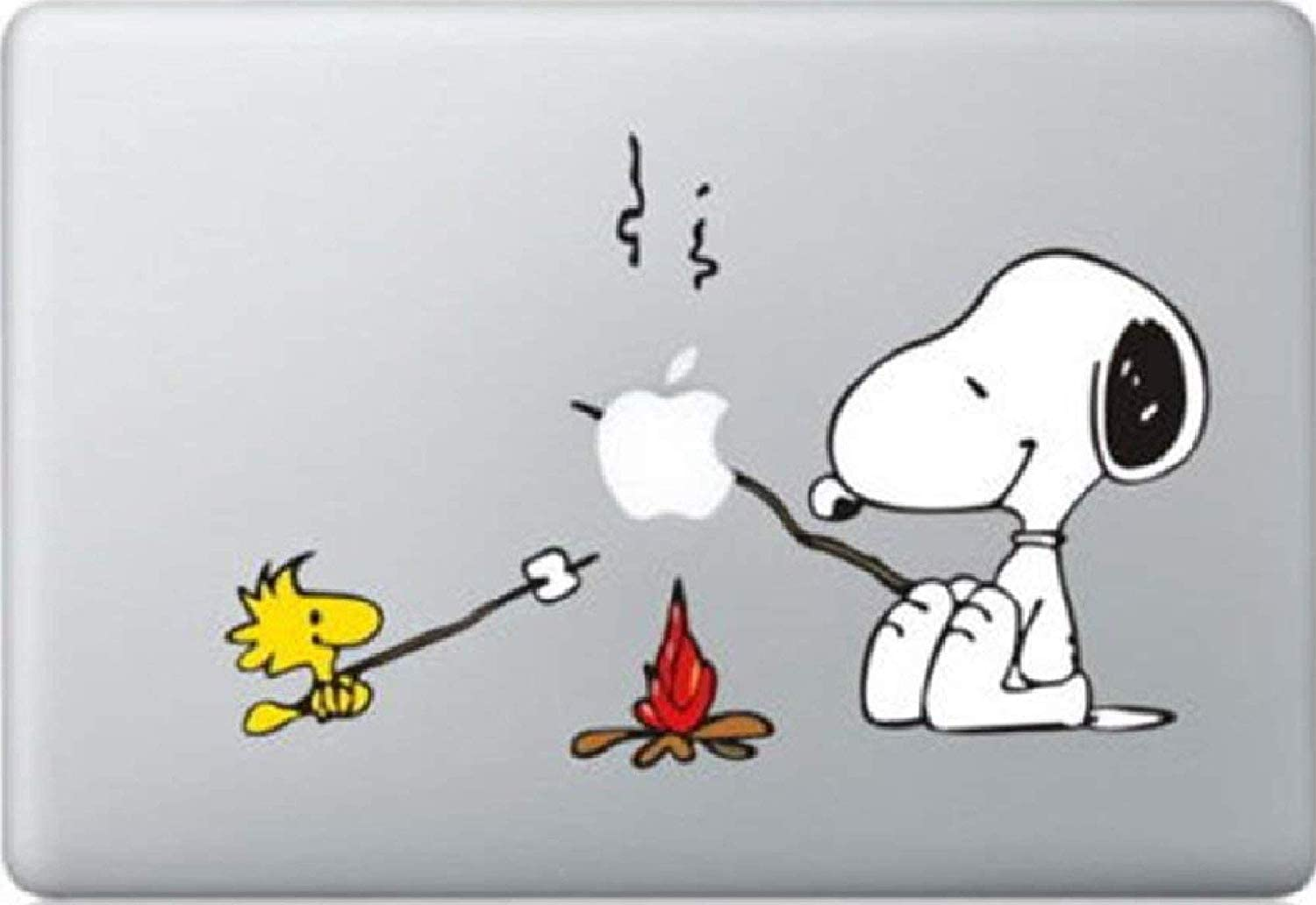 Snoopy BBQ Color Vinyl Decal Sticker for MacBook Pro Mac Air Customizable for All MacBook and Other Laptops
