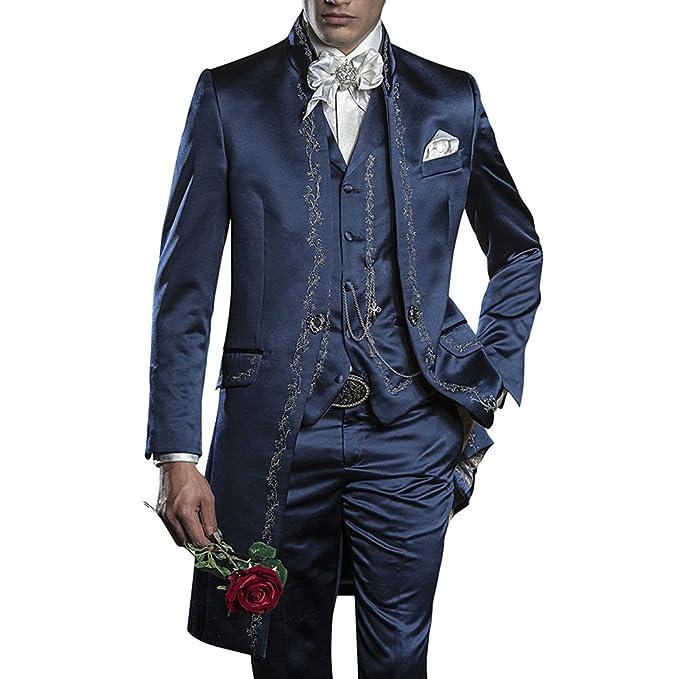 GEORGE BRIDE 007 - Traje de 3 Piezas para Hombre, Chaqueta ...