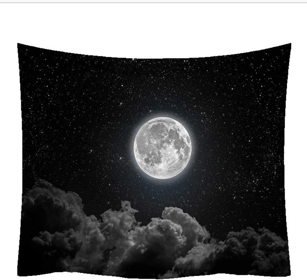 Jzzcidga Home Wall Hanging Clouds And Moon Polyester Fabric Tapestry For Bedroom Dorm Room Living Room Bathroom Decorations 150x130cm Amazon Co Uk Kitchen Home