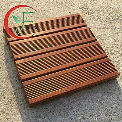 Suelo De Madera De Diy Madera Sólida,Jardín,El Piso Suelo De Madera De Diy: Amazon.es: Bricolaje y herramientas