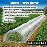 BenefitUSA ZH0116 Tunnel Mini Gardening Sunshade Greenhouse Outdoor, 16.5'x2'x1.3′, Green For Sale