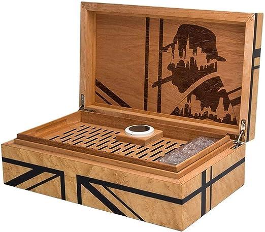 JU FU Caja de cigarros Caja de cigarros, humidor del cigarro Caja ...