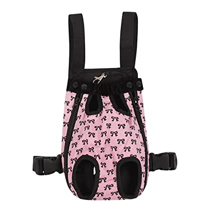 28bd2162311d FakeFace Fashion Bowknots Pattern Pet Dog Doggy Sling Legs Out Design  Outdoor Travel Durable Portable Front Chest Pack Carrier Backpack Shoulder  Bag ...