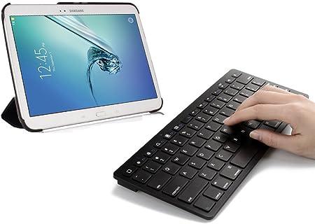 Sparin Ultra delgado Mini teclado Bluetooth para Samsung Galaxy Note 10.1 2014 Edition, Galaxy Tab 2, Galaxy Tab 3, Samsung Galaxy Note 8,0, Galaxy ...