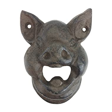 Hungry Pig Bottle Cast Iron Wall Bottle Opener 4.5 Tall
