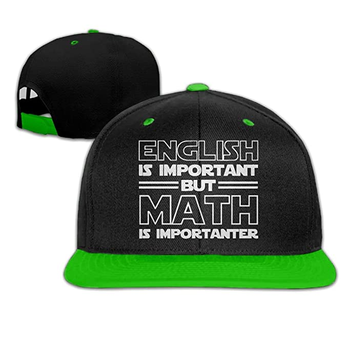 bcc90971d03ce8 Ftoyou-7 Women Mens English is Important But Math is Importanter Funny  Adjustable Hip-Hop Caps Trucker Cap at Amazon Men's Clothing store: