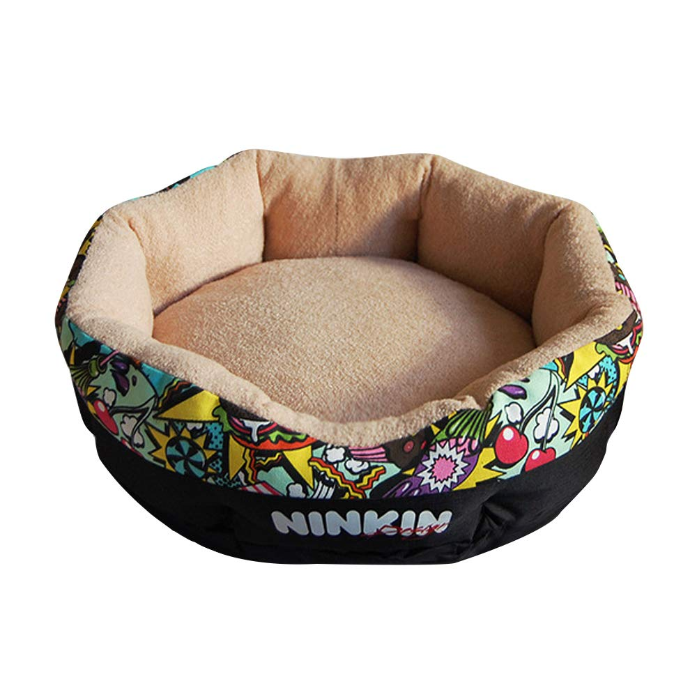 C Large C Large QJKai Pet Round nest Kennel cat Litter pet Padded nest pet Supplies