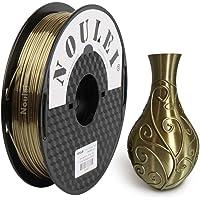 Noulei Silk PLA 3D Printer Filament 1.75mm, Shiny Printing Materials, Antique Gold, 500g +/-0.02mm
