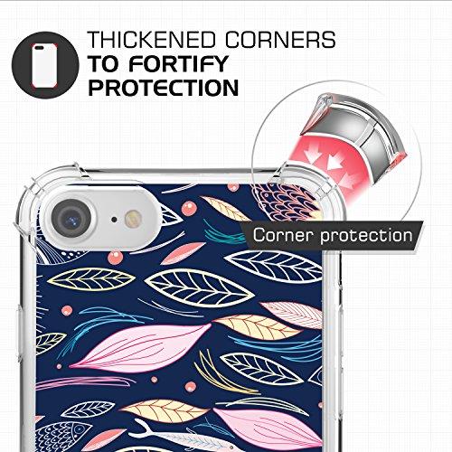 MoKo Funda para iPhone 7 - Avanzado Ultra Delgado TPU de Parachoques Flexible Gel Shock Anti-arañazos Back Cover con Cool Pattern para Apple iPhone 7 4.7 Pulgadas (2016), No Me Toques Peces Marinos