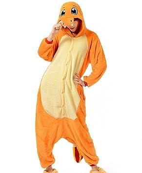 Charmander Adult Men Women Unisex Animal Sleepsuit Kigurumi Cosplay Costume Pajamas Outfit Nonopnd Nightclothes Onesies Halloween