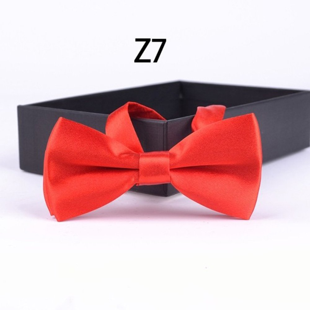 1 corbata de boda para bebé, niño, bebé, mascota, bebé, fiesta o cuello, color sólido Z1 Talla:10 * 5cm JIALONGZI