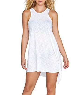 e07d77b641 Amazon.com: Becca by Rebecca Virtue Women's Breezy Basics Keyhole Dress  Cover-Up: Becca by Rebecca Virtue: Clothing