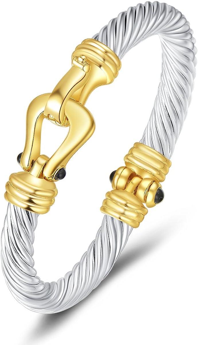 Designer Inspired Titanium Steel Forever Love Heart Charm Bead Bracelet 20cm