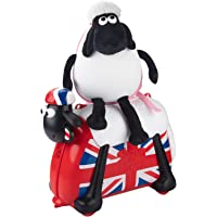 Shaun the Sheep Original Kids Ride-on and Carry-on Suitcase with Spinner Wheels(England Style)