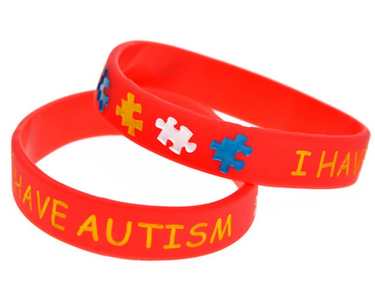 4 PC,s Autism Puzzle Silicone Bracelet Daily Reminder Colourful Wristband For Kids Teens AccessCube