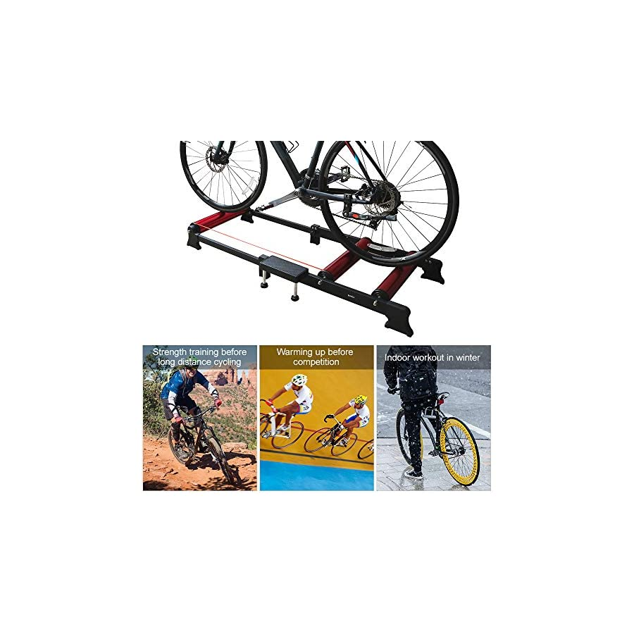 Lixada Parabolic Roller Trainer Bike Roller Traine Indoor Bicycle Cycling Trainer Training Station Bike Exercise Fitness Stand Tool