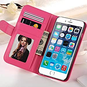 "10 pcs/lot Deluxe Flip PU Leather Case For iPhone 6 6G 4.7"" Wallet With Stand Phone Bag Cover With Photo Frame Wholesale --- Color:White"