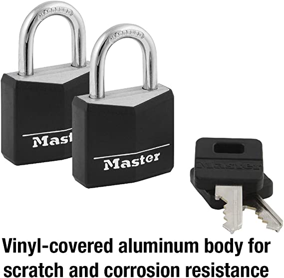 3.0 ft x 10mm-BICYCLES cable LOCK-BLACK SAFTY LOCK-Vinyl Coated-2 KEY included