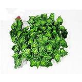 72 piedi-12 grande valore artificiale falso appeso pianta foglie Garland casa giardino parete decorazione inglese Ivy seta verde ghirlande matrimonio
