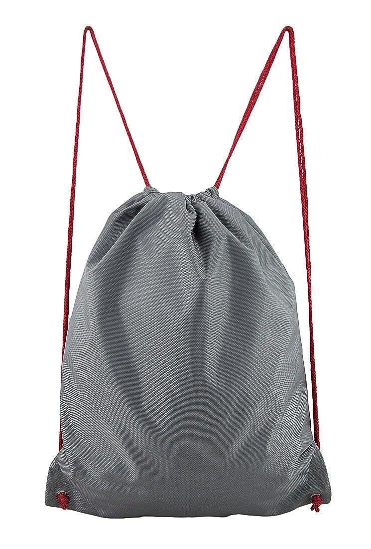 d701e9e11dc6 Mean Gray Shark Nylon Drawstring Backpack